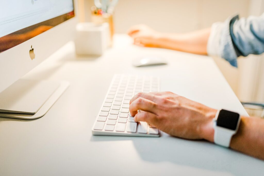 Marin County Personal Injury Attorneys. Man Typing.